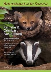 """Ausstellungsplakat """"Reineke & Grimbart"""" in der Fasanerie"""